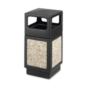 Safco Products 9472NC Canmeleon Aggregate Panel Waste Receptacle Side Open, 143.8l, Black