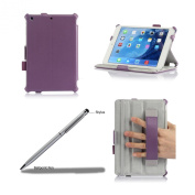 ProCase Slim Fit Hard Leather Case for Apple iPad mini 2 with Retina Display and iPad mini Built-in Stand and Smart Cover Auto Sleep/Wake, with bonus Stylus Pen