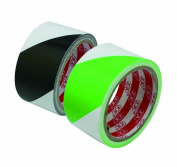 Generic Floor Marking Tape 5.1cm x 20 Yard Roll Colour White Black and Green