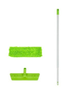 Microfiber Mop Kit with 150cm Pole and Wet and Dry Heavy Duty Chenille Pad with Quick Connect Snap by Legacy Pro