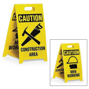 See All Reversible Floor Signs - Caution Construction Area/Men Working