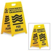 See All Reversible Floor Signs - Caution Wet Floor