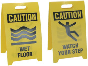 See All Reversible Floor Signs - Caution Wet Floor/Watch Your Step