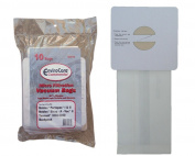 10 Castex, Nobles, Tennant Commercial Allergy Backpack, Canister, Tank Vacuum Cleaner Bags 611780, 613325, Nobles Portapac 1 & 2, Nobles Strap-A-Vac II, Tennant, 3000/3050, Castex, 900005 Portapac