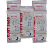 15 Hoover Type J 4010010J, #405396, 625871 Canister Tank Vacuum Cleaner Bags Model Constellation, Portable 822, 822A, 858, 862, 864, 867, 867A, SC362, 2017, 2106, 2154, 2209
