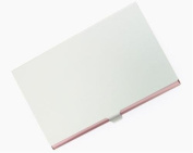 New - Pink Aluminium Business Card Case - V107BP