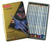 Derwent Metallic Pencil Tin 12/Pkg