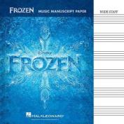 Frozen Music Manuscript Paper Wide Staff 32 Pages
