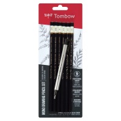 Tombow MONO Drawing Pencil, Combo-Pack with Zero Eraser, Graphite, 6-Pack