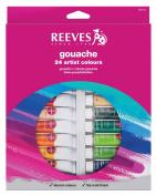 Reeves Gouache Watercolour 10ml 24/Pkg-Assorted Colours
