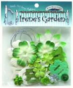 Potpourri Paper Flower & Embellishment Pack Greens
