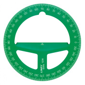 10cm Translucent Green Circular Protractor