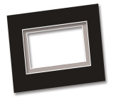 Mat and Drawing Smooth Surface Board Black & White 15 x 20