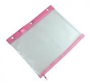 3-Ring Binder Mesh Bag 20cm x 28cm Pink Trim