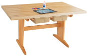 0.6cm Laminate Top Pedestal Table with Tote Trays