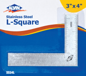7.6cm x 10cm L-Square Stainless Steel Ruler