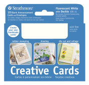 Strathmore Announcement Card white with white deckle