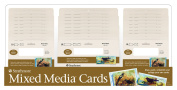Strathmore ST105-311D 400 Series Mixed Media Cards Display Assortment