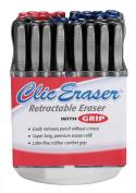Retractable Erasers Black