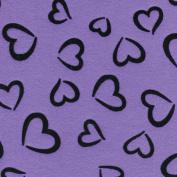Fanci Felt 23cm x 30cm -Princess Heart-Violet Sky