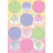 Seasons Die-Cut Punch-Out Sheet 20cm x 30cm -Woodland Toppers Pink