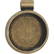 Lisa Pavelka Bezel 1/Pkg-Antique Gold Round