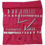 Denise Knit & Crochet Needles In A Della Q Case-Pink