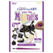 Holographic Foil Engraving Art Magnets-Happy Bugs