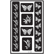 Over 'N' Over Reusable Glass Etch Stencils 13cm x 20cm 1/Pkg-Butterfly