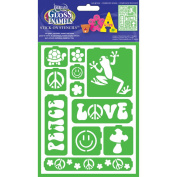 Gloss Enamels Stencils-Just Groovy