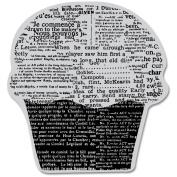 Hero Arts Cling Stamp, Newspaper Cupcake