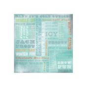 Karen Foster 64985 25 Sheets Winter Wonderland Collage Scrapbooking Supplies