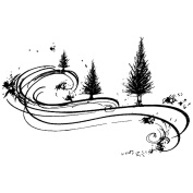Stamp-It Holiday EZMount Cling Stamp Set-Tree Whirl 7.6cm x 5.1cm