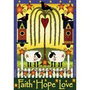 Garden Flags-Faith, Hope, Love