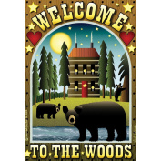 Garden Flags-Welcome To The Woods