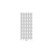 Lace Fan 1 Peel-Off Stickers-Black