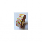 Love My Tapes Washi Tape 15mmX10m-Warm Pink Diagonal Stripes & Dots