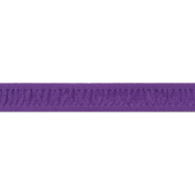 Ruched Ruffle Satin Edge Ribbon 2.2cm X30 Yards-Purple