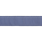 Sheer Ribbon W/Stitched Edge 2.5cm - 1.3cm X50 Yards-Navy