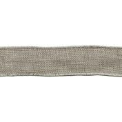 Wired Faux Burlap 2.5cm - 1.3cm X25 Yards-Grey
