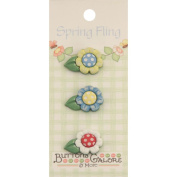 Spring Buttons-Daisies