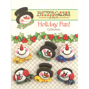 Holiday Buttons-Snowman Medley