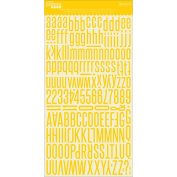 Alphabeans Large Cardstock Stickers 18cm x 30cm -Banana Yellow
