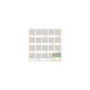 Placemats Die-Cut Cardstock 30cm x 30cm -White Mini Journaling Frames
