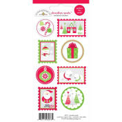 Home For The Holidays Doodles Cardstock Stickers 3x6.5 Sheet