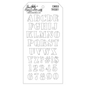 Stampers Anonymous Tim Holtz Layered Stencil, 10cm by 22cm , Cargo