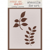 Wendy Vecchi Studio Stencil Collection 17cm x 11cm -Lovely Leaves
