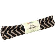 Fabric Palette Printed Burlap 46cm x 60cm Rolled-Zigzag-Black