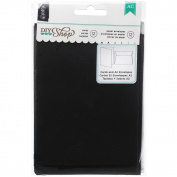 DIY Shop Cards W/Envelopes 12/Pkg-Chalkboard A2 W/White Envelopes