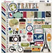 Getaway Cardstock Stickers 30cm x 30cm -Element